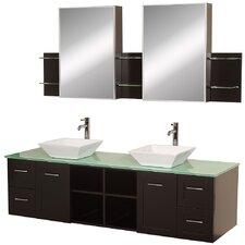 """Avara 72"""" Double Bathroom Vanity Set with Mirror"""