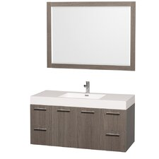 "Amare 47"" Single Bathroom Vanity Set with Mirror"
