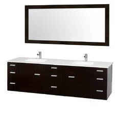 "Encore 78"" Double Bathroom Vanity Set with Mirror"