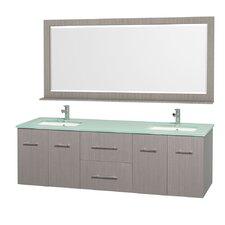 "Centra 72"" Double Bathroom Vanity Set with Mirror"