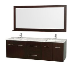 "Centra 72"" Double Bathroom Vanity Set with Mirror"