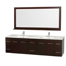 "Centra 80"" Double Bathroom Vanity Set with Mirror"