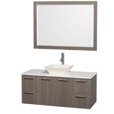 """Amare 48"""" Single Bathroom Vanity Set with Mirror"""