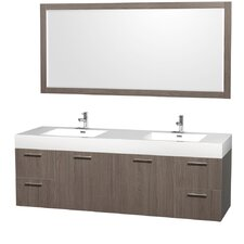 "Amare 72"" Double Bathroom Vanity Set with Mirror"