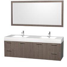 "Amare 72"" Double Bathroom Vanity Set with Mirror"