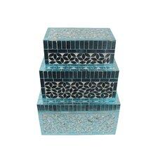 3 Piece Rectangular Jewelry Box Set