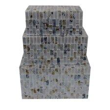 Mosaic 3 Piece Rectangular Jewelry Box Set