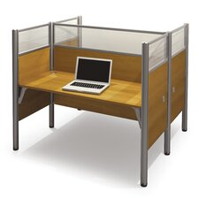 Pro-Biz Double Face-to-Face Workstation with 10 Privacy Panels