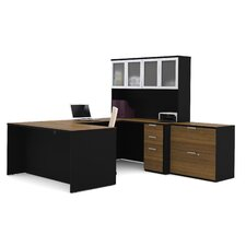 Pro-Concept 2 Piece U-Shaped Desk Office Suite