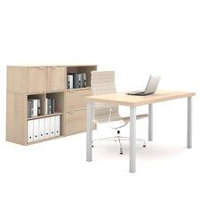 I3 2 Piece U-Shape Desk Office Suite