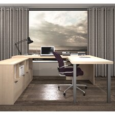I3 1 Piece U-Shaped Desk Office Suite
