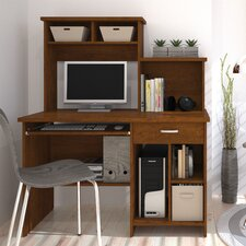 Active Computer Desk with Bookcase