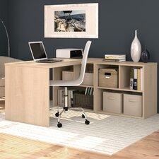 "I3 29.75"" Writing Desk with Storage Unit"
