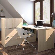 I3 1 Piece L-Shaped Desk Office Suite