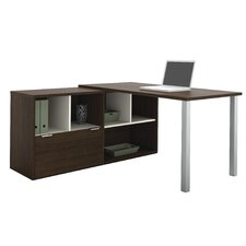 Contempo L-Shaped Writing Desk