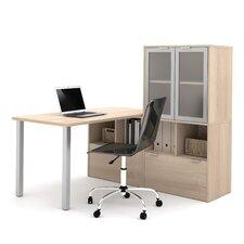 l3 4-Piece L-Shape Desk Office Suite