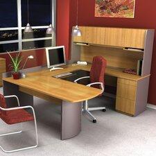 Executive 3 Piece U-Shaped Desk Office Suite