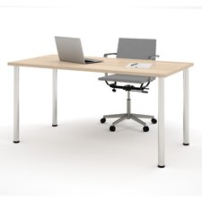 Computer Desk with Round Metal Leg