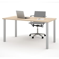 Computer Desk with Square Metal Leg
