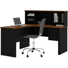 Somerville Corner Executive Desk with Hutch