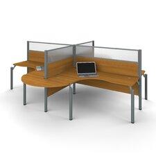 Pro-Biz 4 L-Desk Workstation