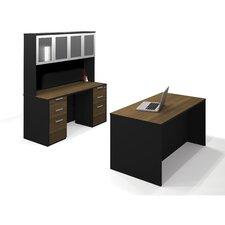 Pro-Concept 2 Piece Standard Desk Office Suite