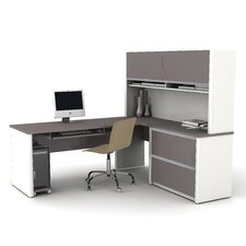 Connexion Computer Desk with Pedestal