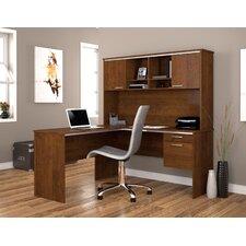 Flare 2-PIece L-Shape Executive Desk Office Suite