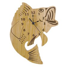 Bamboo Fish Wall Clock