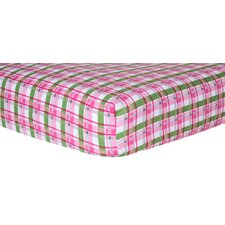 Plaid Print Fitted Crib Sheet
