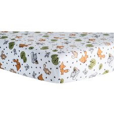 Forest Animal Print Fitted Crib Sheet