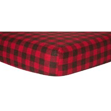 Check Print Fitted Crib Sheet