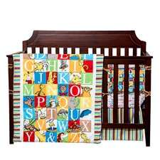 Alphabet Seuss 3 Piece Crib Bedding Set
