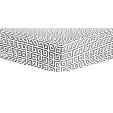 Ombre Gray Greek Key Crib Sheet