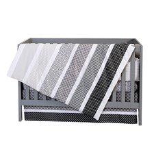 Ombre Grey 4 Piece Crib Bedding Set