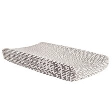 Ombre Gray Greek Key Changing Pad Cover