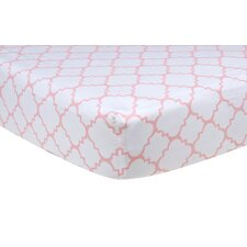 Sky Quatrefoil Fitted Crib Sheet