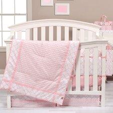 Pink Sky 3 Piece Crib Bedding Set