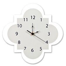 "Ombre Gray 11"" Quatrefoil Wall Clock"