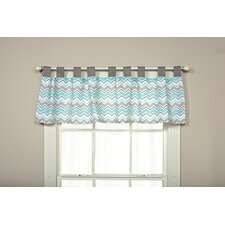"Seashore Zigzag 56"" Curtain Valance"