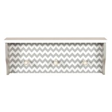 Ombre Gray Chevron Shelf with Pegs