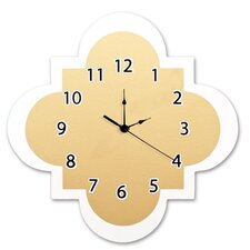 "Gold 11"" Quatrefoil Wall Clock"