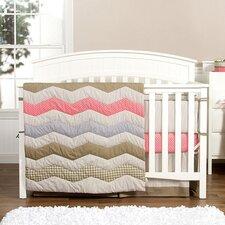 Cocoa Coral 3 Piece Crib Bedding Set