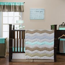 Cocoa Mint 3 Piece Crib Bedding Set