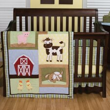 Baby Barnyard 4 Piece Crib Bedding Set