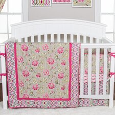 Waverly® Jazzberry 3 Piece Crib Bedding Set