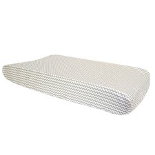 Ombre Gray Dove Chevron Changing Pad Cover