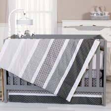Ombre Grey 3 Piece Crib Bedding Set