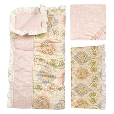 Rosewater Glam 3 Piece Crib Bedding Set