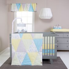Triangles 3 Piece Crib Bedding Set